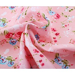 Printed Fabric - Floral (Pink)