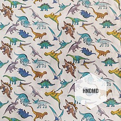 Printed Fabric - Multicolored Dinosaurs
