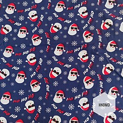 Printed Fabric - Christmas Santa
