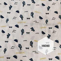 Printed Fabric - Travel Background