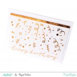 Gold Reactive Foils Transfer Sheets by CrafTangles
