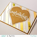 Red Reactive Foils Transfer Sheets by CrafTangles