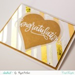 Turquoise Reactive Foils Transfer Sheets by CrafTangles