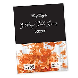 CrafTangles Gilding Foil Leaves - Copper (Pack of 100 leaves)