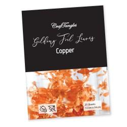 CrafTangles Gilding Foil Leaves - Copper (Pack of 100 leaves)