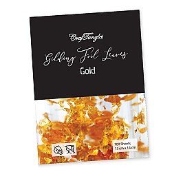 CrafTangles Gilding Foil Leaves - Gold (Pack of 100 leaves)