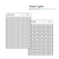 CrafTangles Designer Toner Sheets - Diwali Lights (2 sheets of A4)