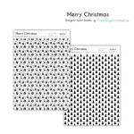 CrafTangles Designer Toner Sheets - Merry Christmas (2 sheets of A4)