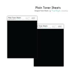 CrafTangles Designer Toner Sheets - Plain (2 sheets of A4)