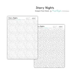 CrafTangles Designer Toner Sheets - Starry Nights (2 sheets of A4)