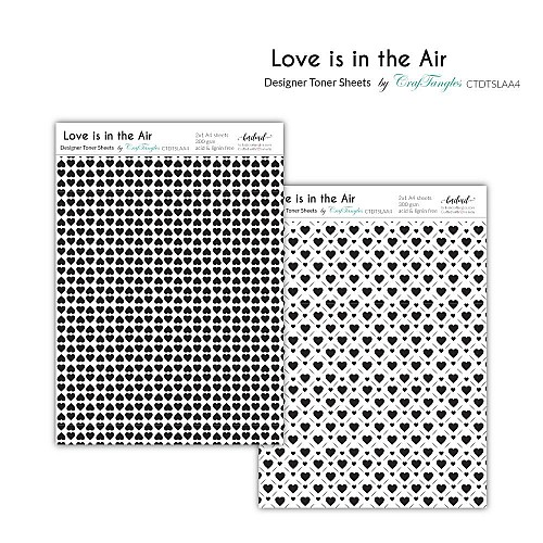 CrafTangles Designer Toner Sheets - Love is in the Air (2 sheets of A4)