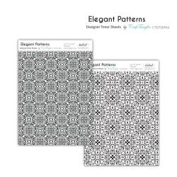 CrafTangles Designer Toner Sheets - Elegant Patterns (2 sheets of A4)