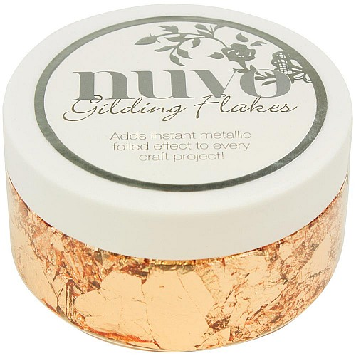 Nuvo Gilding Flakes 6.8oz - Sunkissed Copper
