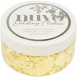 Nuvo Gilding Flakes 6.8oz - Radient Gold