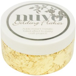 Nuvo Gilding Flakes 6.8oz - Radient Gold