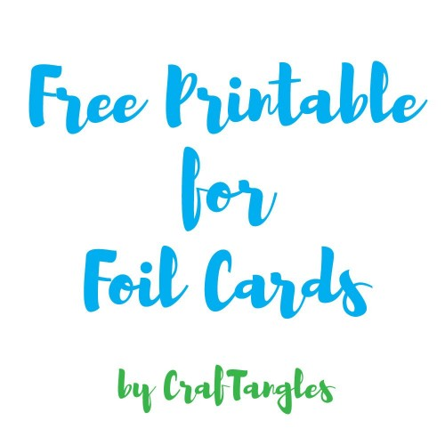 Free downloadable A2 card size printables for foiling (2 A4 sheets)