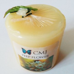 Aromatic Pillar Candles - Peep Flower (Small)