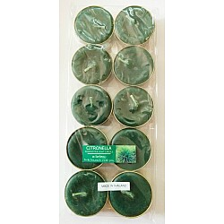 Aromatic Tea Lights - Citronella (Pack of 10)