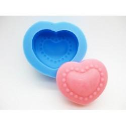 Designer Heart Silicone Soap Mold