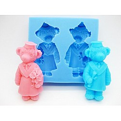 Male and Female Bear Silicone Soap Mould
