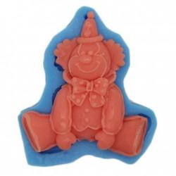 Designer Clown Silicone Soap Mold