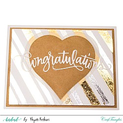 Gold and Silver foiled Congratulations handmade card