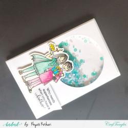 Blue shaker rakhi card handmade card