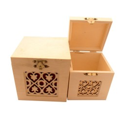 Decorative Square Boxes (Set of 2)