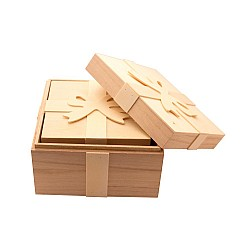 Square Boxes with ribbon shaped top (Set of 3)