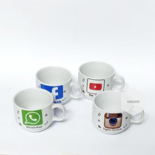 Social Media Cups (Set of 4)