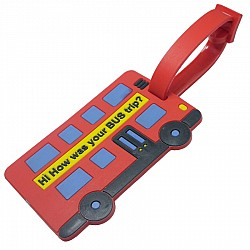 Silicone Luggage Tag - Hi how was your bus trip