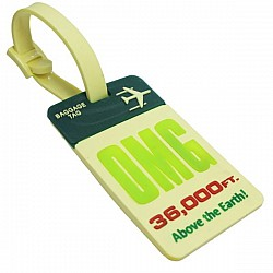 Silicone Luggage Tag - OMG 360000 ft above earth