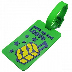 Silicone Luggage Tag - Pack up and Leave