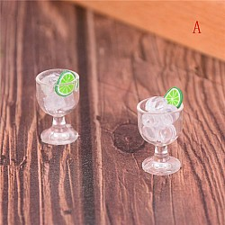 Miniatures - Drink with Lemon in Glass (2 pcs)