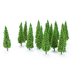 Miniatures - Green Pointed Tree (10 pcs)