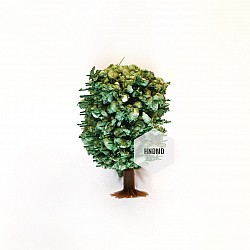 Miniatures - Large Green Rounded Trees (5 pcs)