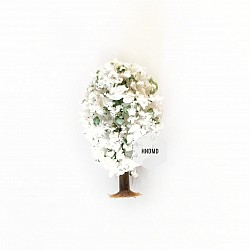 Miniatures - White Rounded Trees (5 pcs)