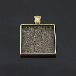 Square Bezels or Pendants (25mm) - Pack of 2