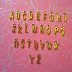 Single Alphabet Metal Charms (A-Z)