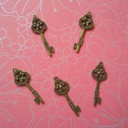 Antique Key - Design 6 - pack of 2