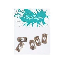 Follow your Heart Metal Charms (Set of 5 pcs)