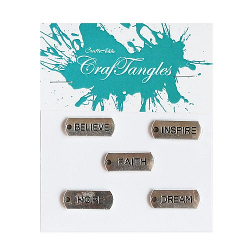Aspire to Inspire Metal Charms (Set of 5 pcs)
