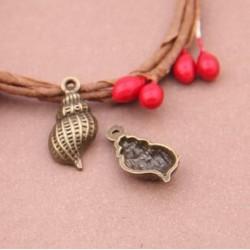 Small Seashells  Metal Charms (Set of 5 pcs)