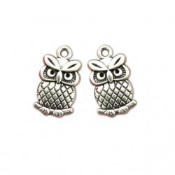 Tiny Owl  Metal Charms (Set of 5 pcs)