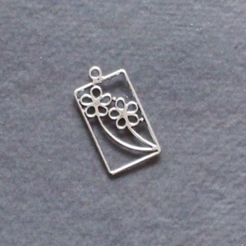 Floral Pendant Metal Charm (single pc)