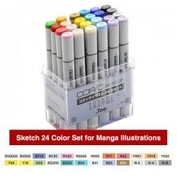 COPIC Sketch Marker Set of 24 Manga