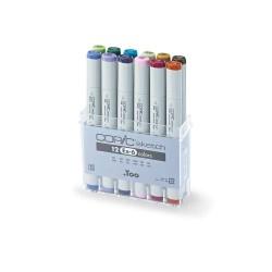 Copic Sketch Marker (EX 6) - Set of 12 Color