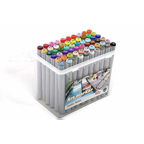Hakims Alcohol Markers Set of 60