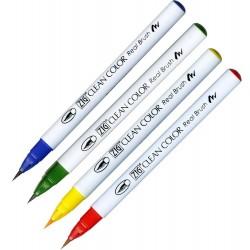 Kuretake Zig Clean color real brush pen marker - Set of 4 (4VC)
