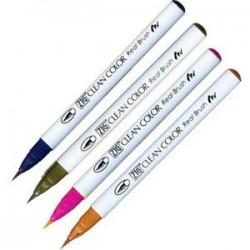 Kuretake Zig Clean color real brush pen marker - Set of 4 (4VD)